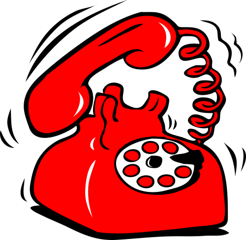 telephone dial plate red