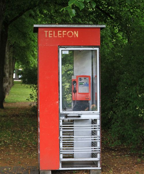 telephone booth telefon red