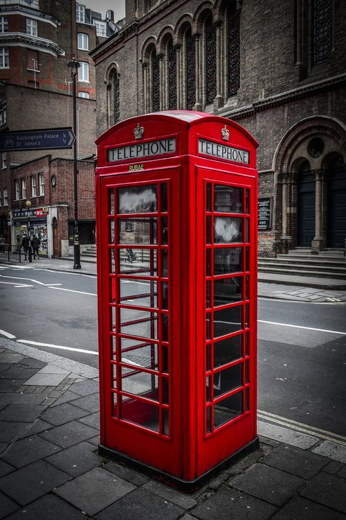 telephone booth  telephone  english