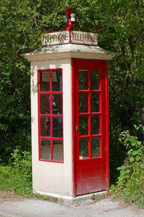 telephone box vintage old