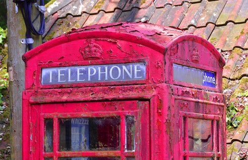 telephone box  old  communication