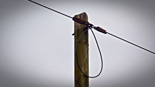 telephone pole wire cable