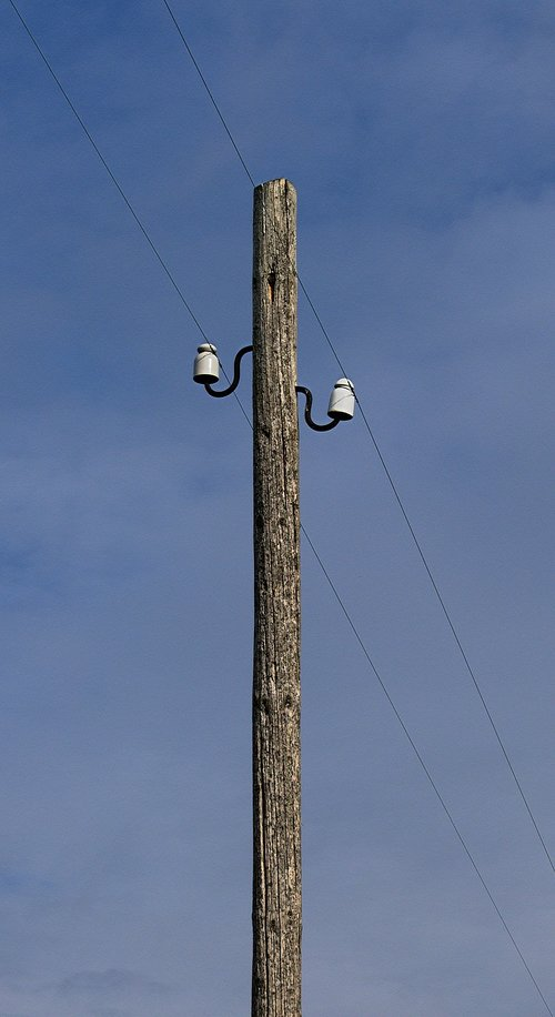 telephone pole  telegraph pole  overhead line
