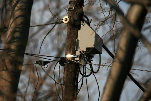 Telephone Pole & Communication Unit