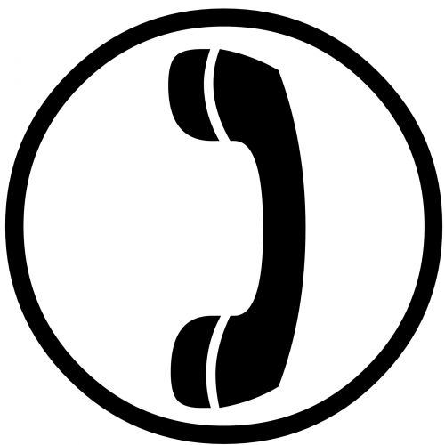 Telephone Receiver Silhouette