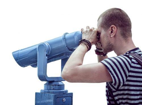 telescope man viewing