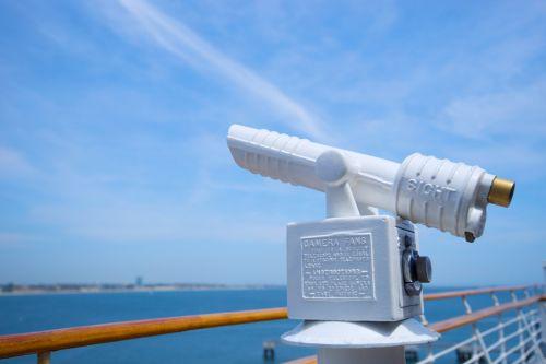 Telescope On Cruise Ship Railing