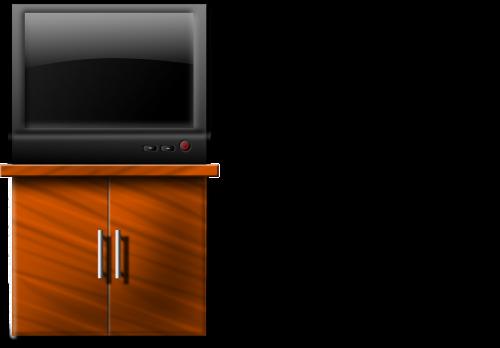 television tv closet