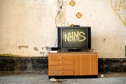 television cupboard drawers old