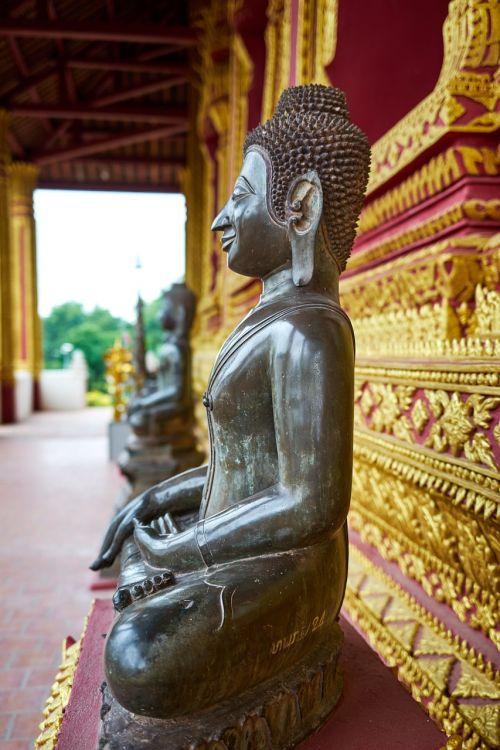 temple monk statue