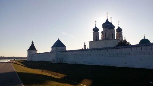 temple sunset monastery