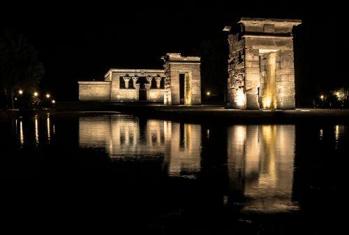 temple egypt night