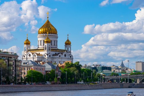 temple  christ the savior cathedral  moscow