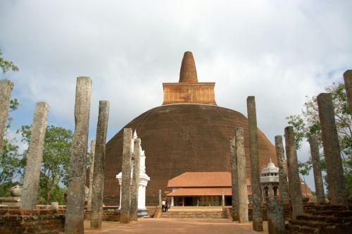 temple columns ruins