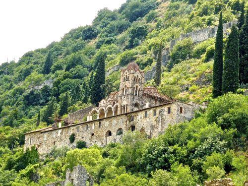 temple mountainside greece
