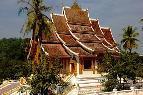 temple laos roof top