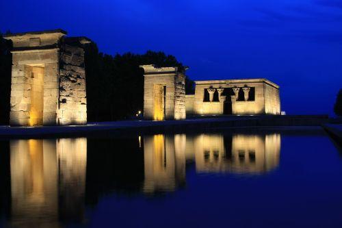 temple debod egyptian night