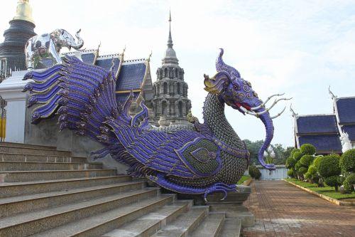 šventyklos globėjas,Tailandas,šventyklos kompleksas