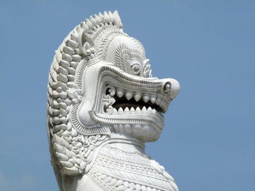 temple guardian thailand lion