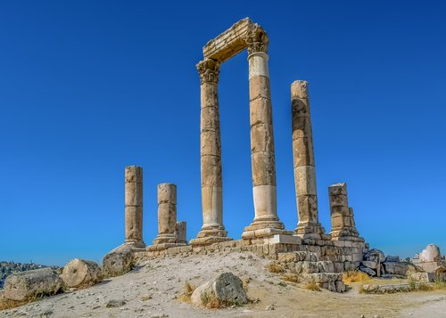 temple of hercules  historic site  roman temple