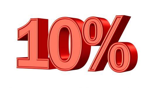 ten 10 percent