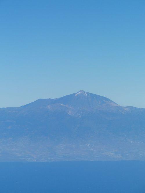 tenerife island aerial view