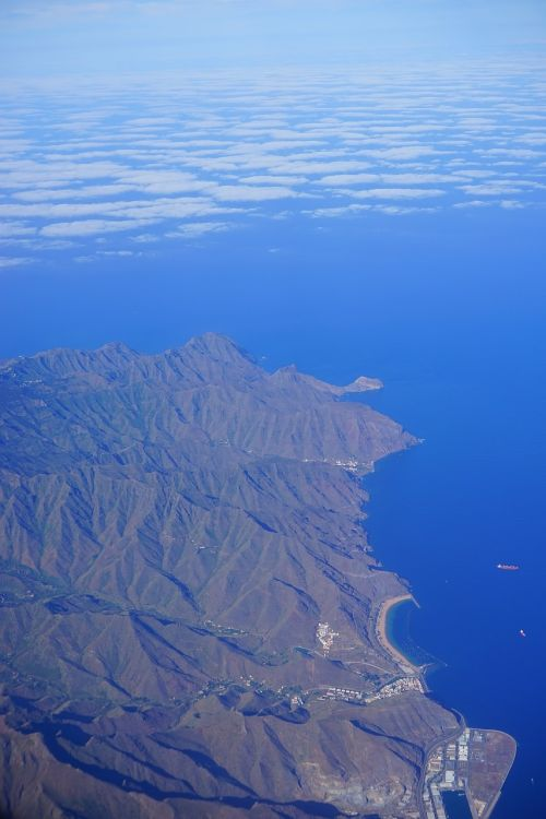 tenerife aerial view island
