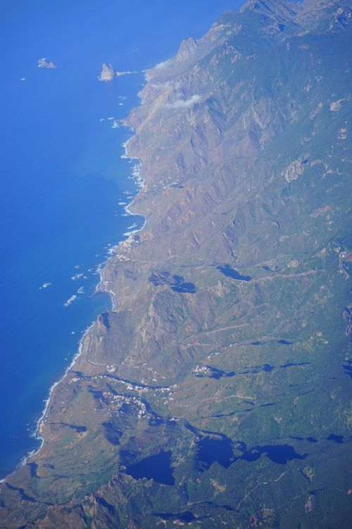 tenerife aerial view anaga mountains