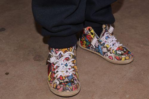 tennis shoe feet