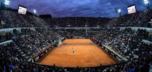 tennis court clay