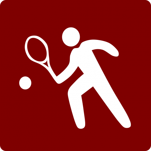 tennis red sports