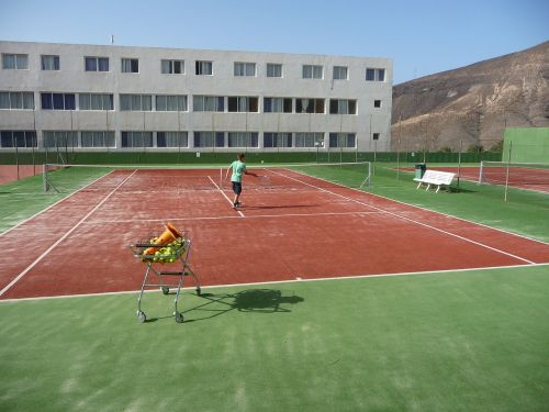 tennis training tennis court