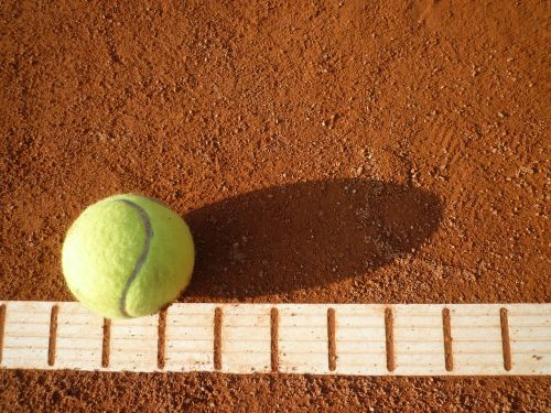 tennis court tennis yellow