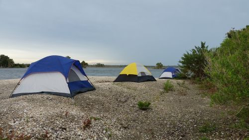 tent camping beach