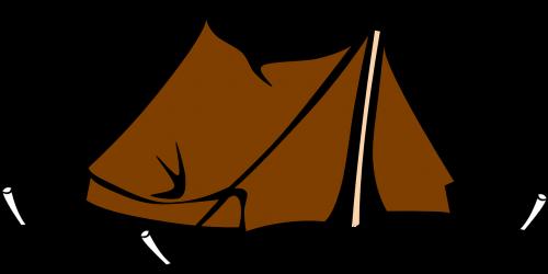 tent camping brown