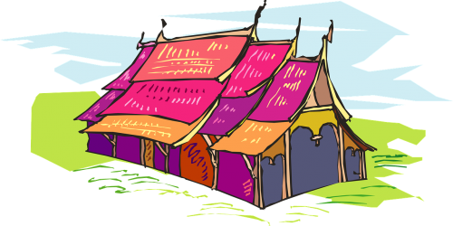 tent colored circus