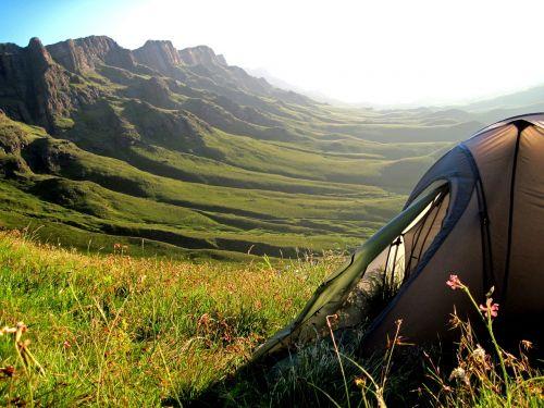 tent mountains sani pass