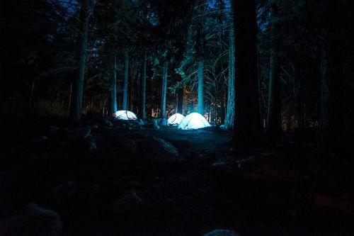 tents campsite night