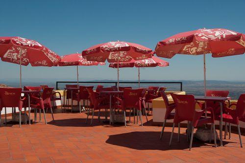 terrace bar parasols