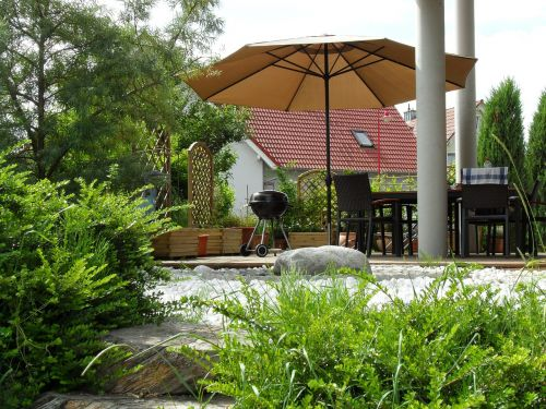 terrace garden idyll