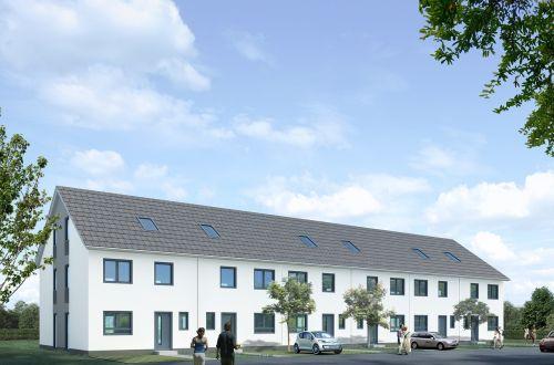 terraced house villa rendering