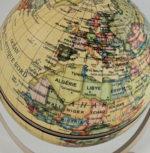 terrestrial globe world earth