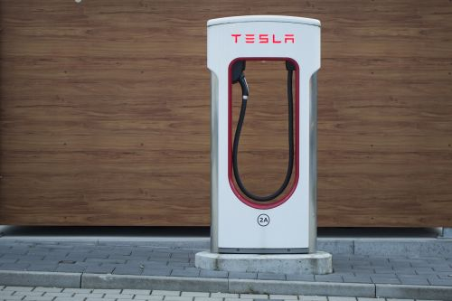 tesla electric charging station