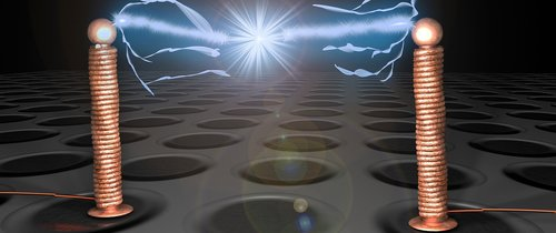 tesla coil  background  tesla transformer