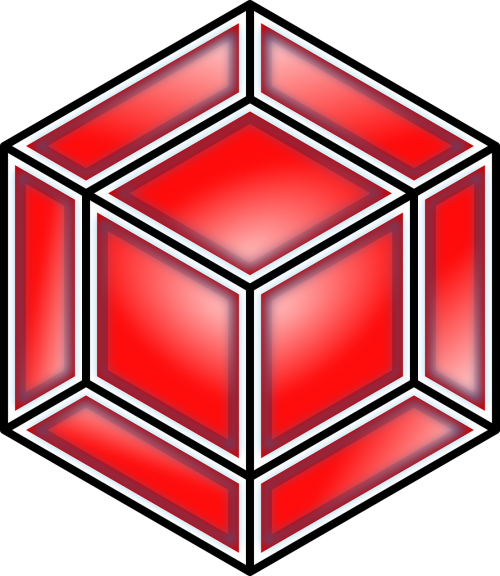 tesseract cube red