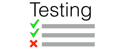 test testing sign