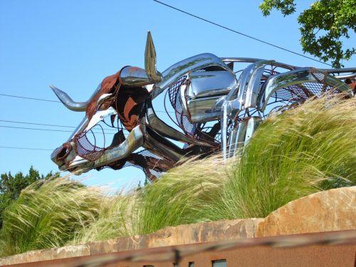 texas longhorn metal art