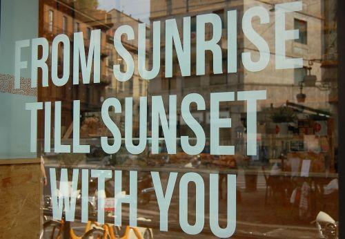 text typography sunrise