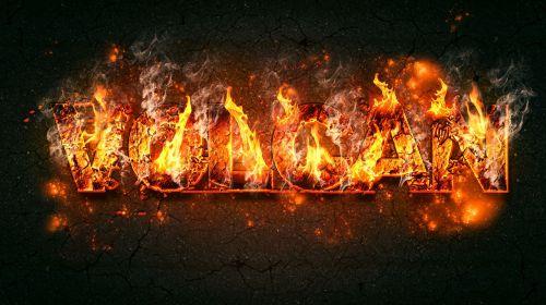 text fire effect