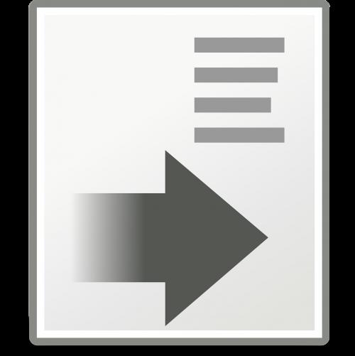 text increase indent indentation